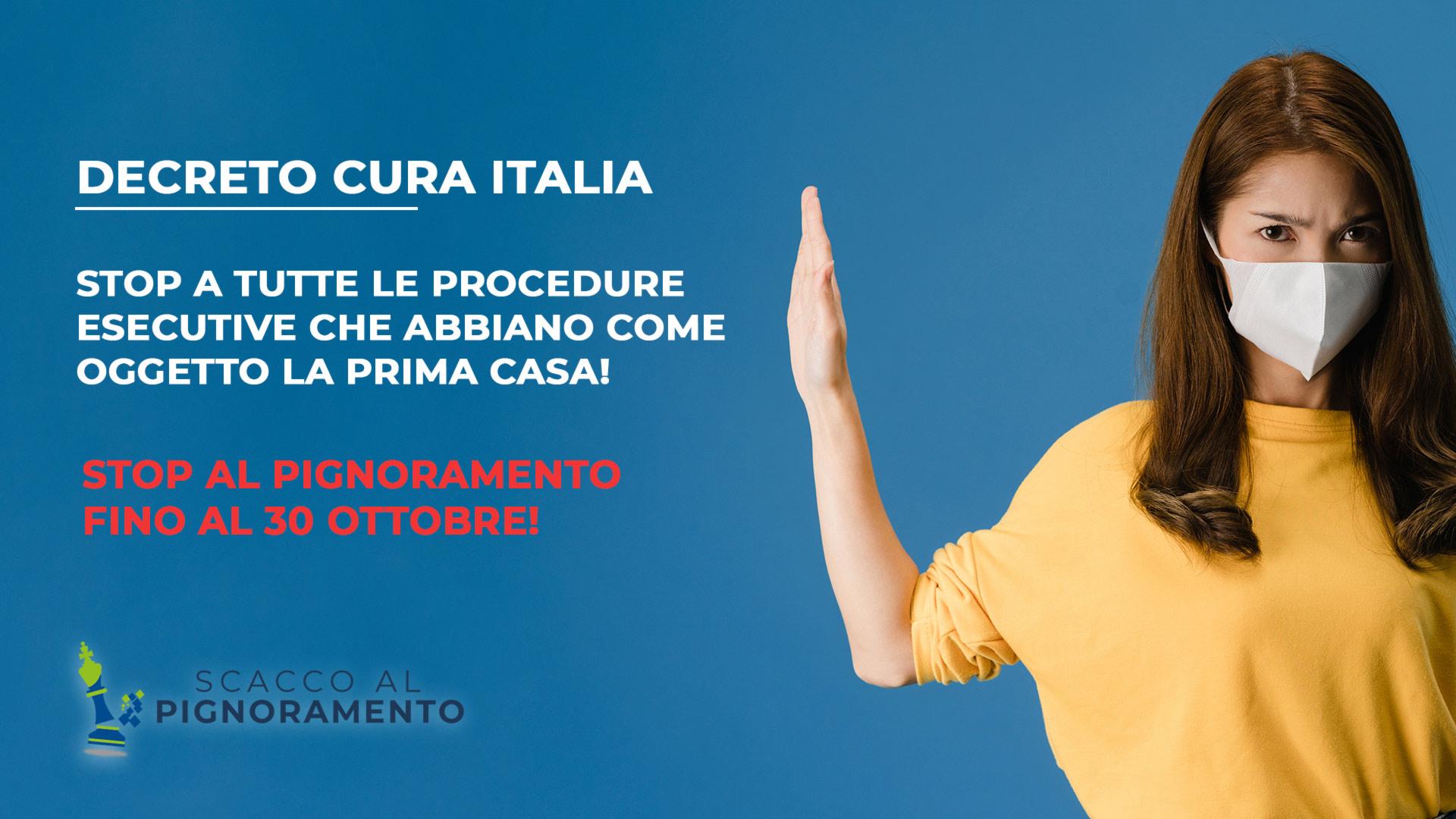 decreto cura italia, sospensione pignoramenti immobiliari